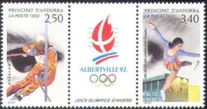 Andorra French 1992 Olympic Game Albertville Slalom Figure Skating Sports Stamps