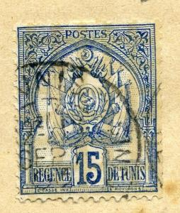 TUNISIA;  1888 early classic Second issue fine used value 15c.