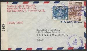 SALVADOR 1942 censor cover to USA........................................27430