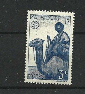 MAURITANIA  1938 - 40  3C  BRIGHT BLUE      MH
