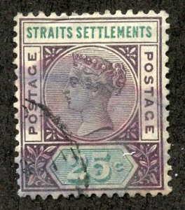 Straits Settlements, Scott #86, Used