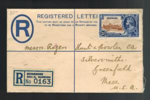 1935 Bermuda Jubilee Cover to USA Registered