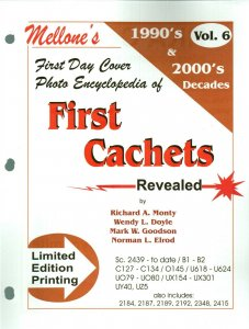 Mellone First Day Cover Photo Encyclopedia First Cachets 1990s & 2000s Volume 6