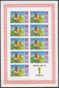 1974 Barbuda 177KLb 1974 World championship on football of Munchen