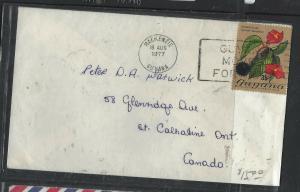 GUYANA  (PP1605B)  1977    ORCHIDS 35C MACKENZIE TO CANADA