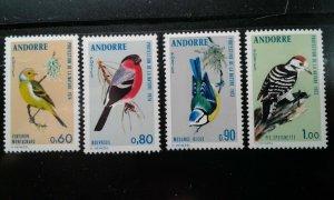 Andorra (French) #228-31 MNH birds e199.5191