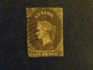 Ceylon #28 used short perfs c203 88