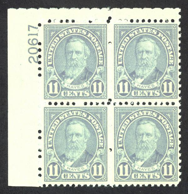 #692, Mint PB/4, Superb-OG-NH, Great Plate!