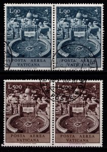 Vatican City 1967 Air Mail, Pairs Part Set [Used]