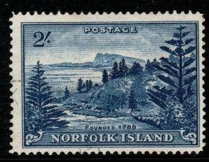 NORFOLK ISLAND SG12a 1959 2/= DEEP BLUE FINE USED