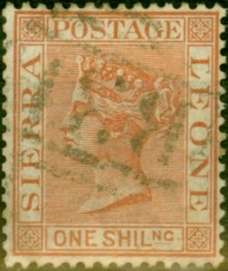 Sierra Leone 1888 1s Red-Brown SG34 Fine Used Stamp