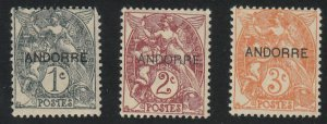 Andorra-French - 1931 - SC 1-3 - H