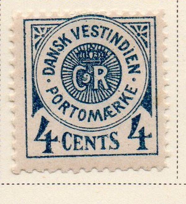 Danish West Indies Sc J2 1902 4c Postage Due stamp mint