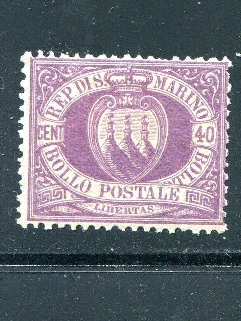 San Marino  #17  Mint  F-VF  Cat $925