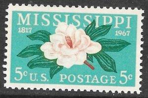 USA 1337: 5c Magnolia, MNH, VF