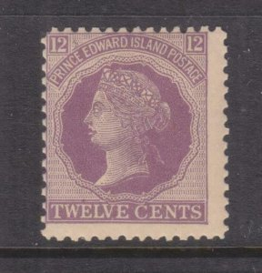 PRINCE EDWARD ISLANDS, 1872 12c. Reddish Mauve, lhm.