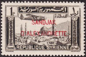 Alexandretta #C2 Syria Air Mail Overprinted MLH