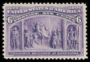U.S. COLUMBIAN ISSUE 235  Mint (ID # 83300)