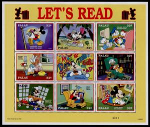 Palau 447 MNH Disney, Let's Read