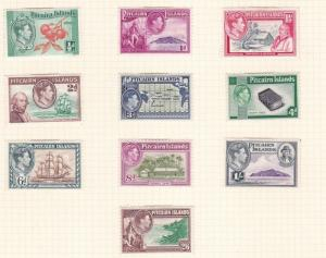 PITCAIRN ISLANDS 1940  SET OF 10 MH