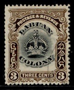 NORTH BORNEO - Labuan EDVII SG119, 3c black & sepia, USED. Cat £23.