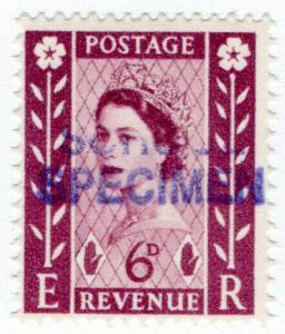 (I.B) Elizabeth II Postal : School Specimen Overprint 6d (Northern Ireland)