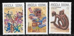 Angola 1994 Social Responsibilities of Aids Sc 899-901 MNH A1268