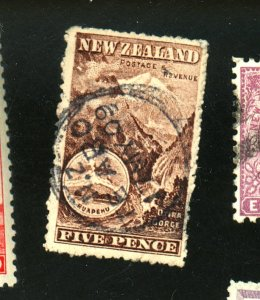 NEW ZEALAND #77 USED F-VF THIN CREASES Cat $225