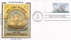 2011, US Merchant Marine, Colorano Silk, FDC (E12301)