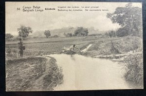 Mint Belgian Congo Stationery RPPC Postcard Cover Rice irrigation System