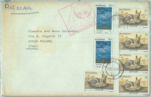 86279 - BOTSWANA - Postal History -  COVER to ITALY 1990  Fauna ANIMALS Fox