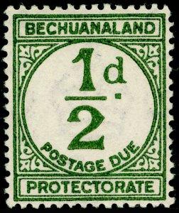 BECHUANALAND SGD4, ½d sage-green, NH MINT.