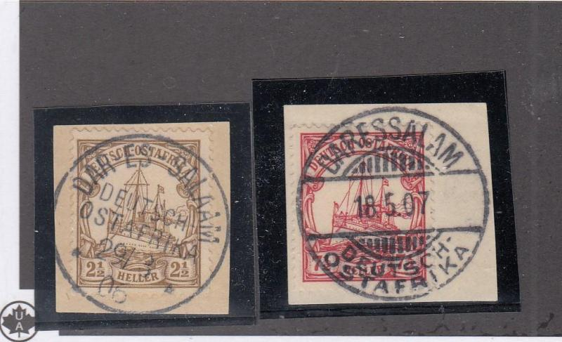 GERMAN EAST AFRICA SELECTION OF ISSUES WITH DIFFERENT SUPERB RARE CANCELS CV $35