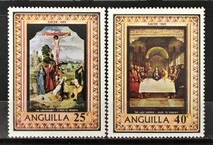 Anguilla 1969 #68-9, Unused/MH, CV $.70
