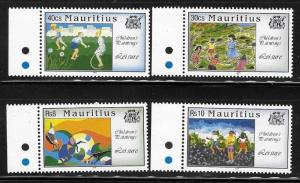 Mauritius 1994 Children's paintings of leisure activities Sc 795-798 MNH A959