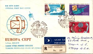 Cyprus, Worldwide First Day Cover, Europa, Telephone and Telegraph