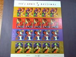 U.S.# 3939-3942(3942a)-MINT/NH--PANE OF 20---LET'S DANCE-BAILEMOS---2005