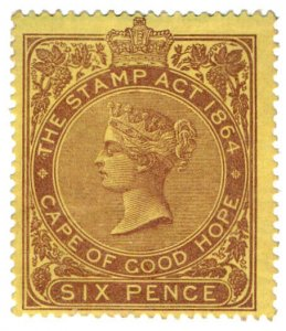 (I.B) Cape of Good Hope Revenue : Duty Stamp 6d