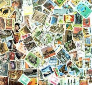 Zimbabwe Stamp Collection - 100 Different Stamps
