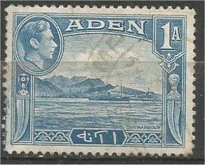 ADEN, 1939, used 1a, Aden Harbor Scott 18