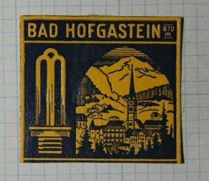 Town of Bad Hogastein Austria Exposition Poster Stamp Ads