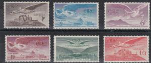 IRELAND  1948 - 54  S G 140 - 143B  SET OF 7  MH