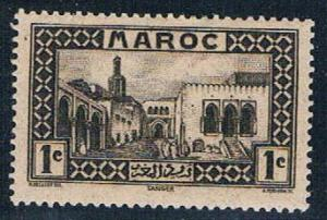 French Morocco 124 MLH Old Treasure House 1933 (F0125)+