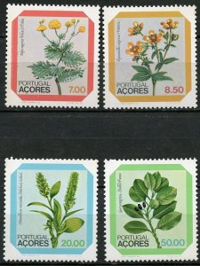 Portugal Azores MNH 325-8 Flowers On Limbs
