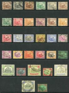 Malay States SG52/81 Set of 30 plus extra 5 dollars wmk Script CA