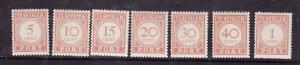 Netherlands Antilles-Sc.#J25a-J37a- id5-Unused NH Postage Due set-1941-