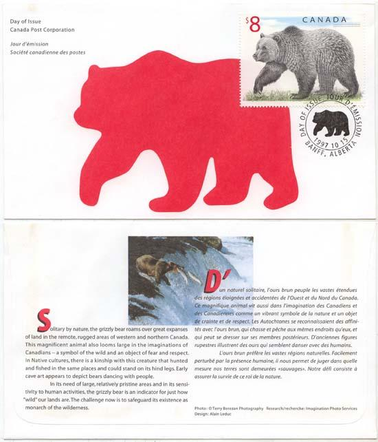 Canada - 1997 $8 Grizzly 1st Day Cover VF #1694