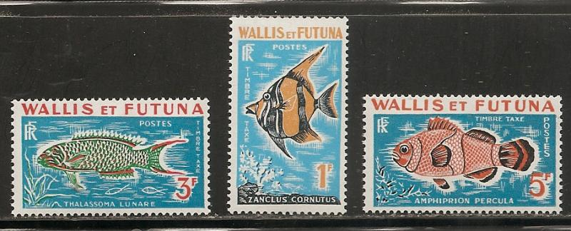 Wallis and Futuna Islands J37-9 1963 Postage Dues set MNH