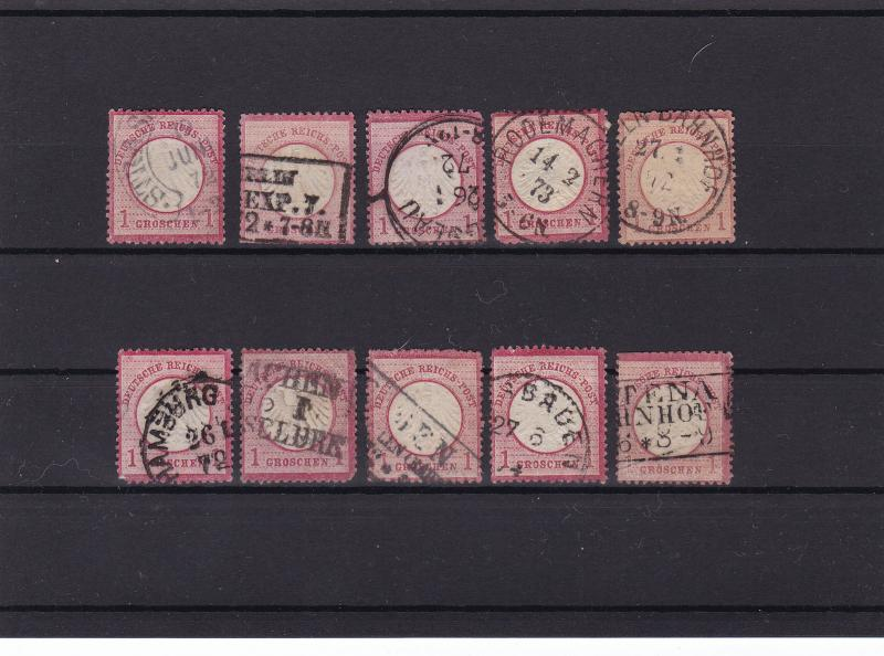 german empire 1872 used good postmark stamps cat £100+ ref r13975