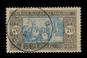 SÉNÉGAL - 1935 - CAD DOUBLE CERCLE SAINT-LOUIS/SÉNÉGAL SUR N°102